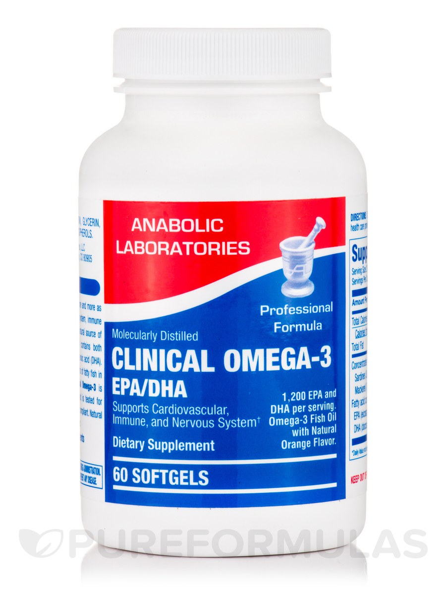 Clinical Omega-3 EPA/DHA, Natural Orange Flavor - 60 Softgels