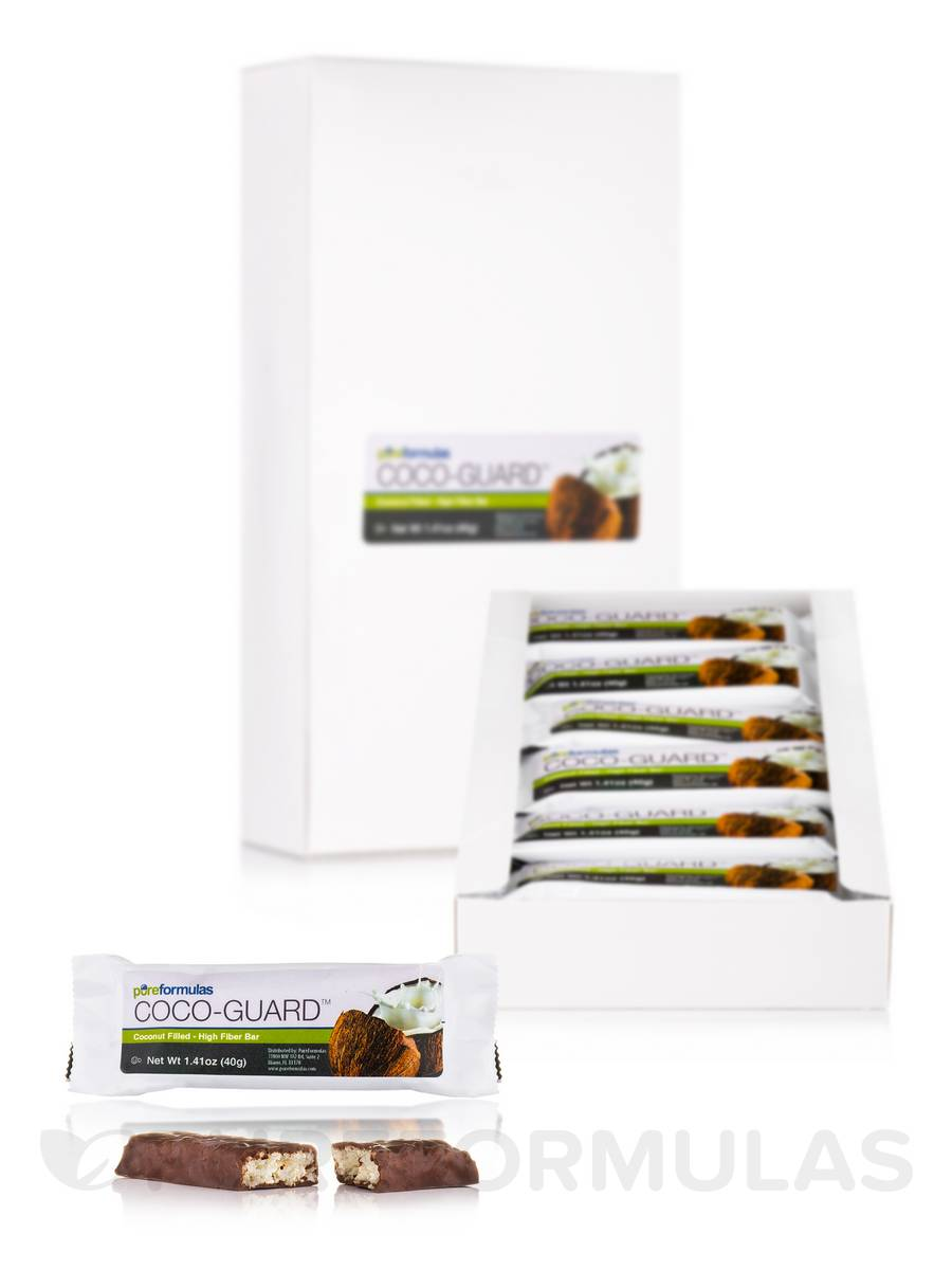 Coco-Guard™ (Coconut Filled - High Fiber Bar) - Box of 18 Bars (1.41 oz / 40 Grams Each)