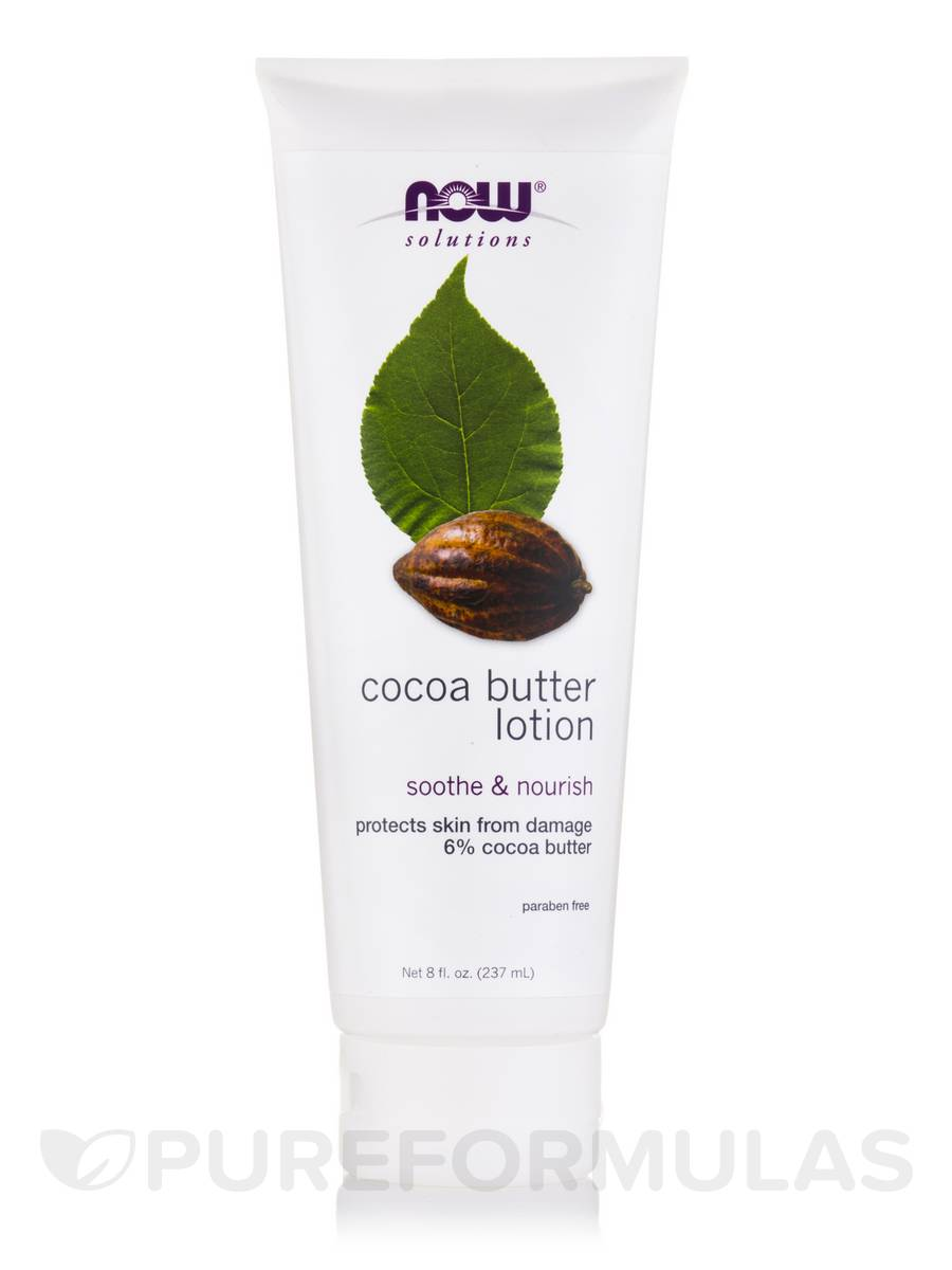 NOW® Solutions - Cocoa Butter Lotion - 8 fl. oz (237 ml)
