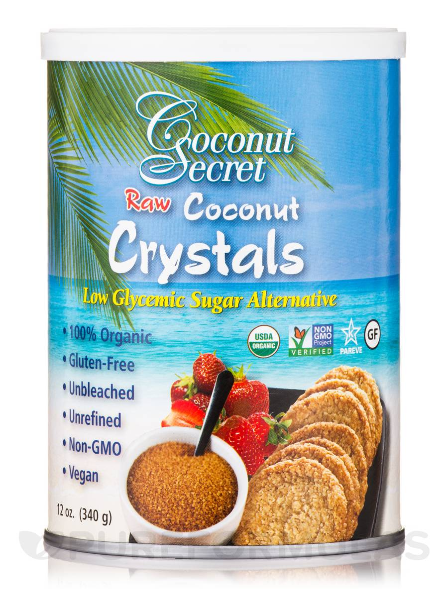 Raw Coconut Crystals - 12 oz (340 Grams)