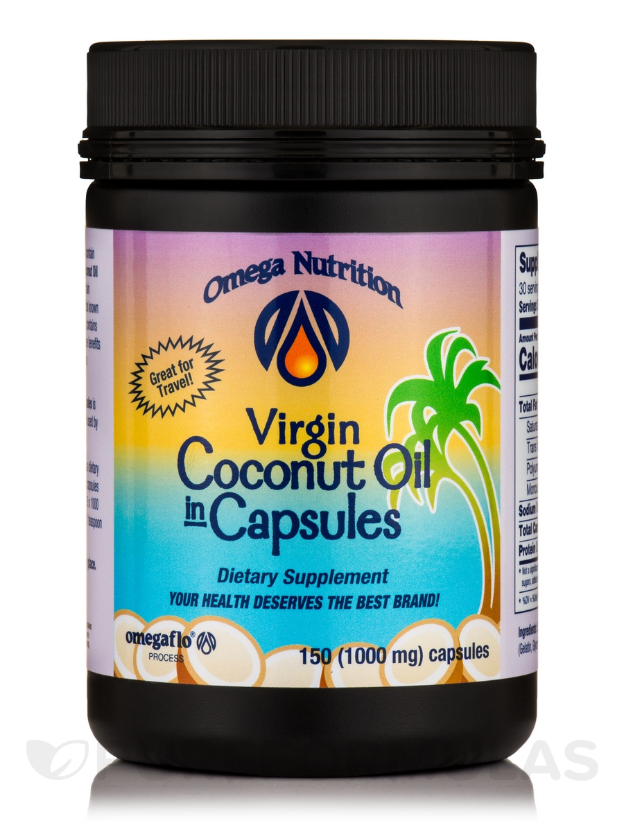 Virgin Coconut Oil 1000 mg - 150 Capsules