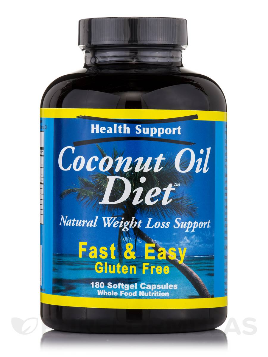 Coconut Oil Diet - 180 Softgels