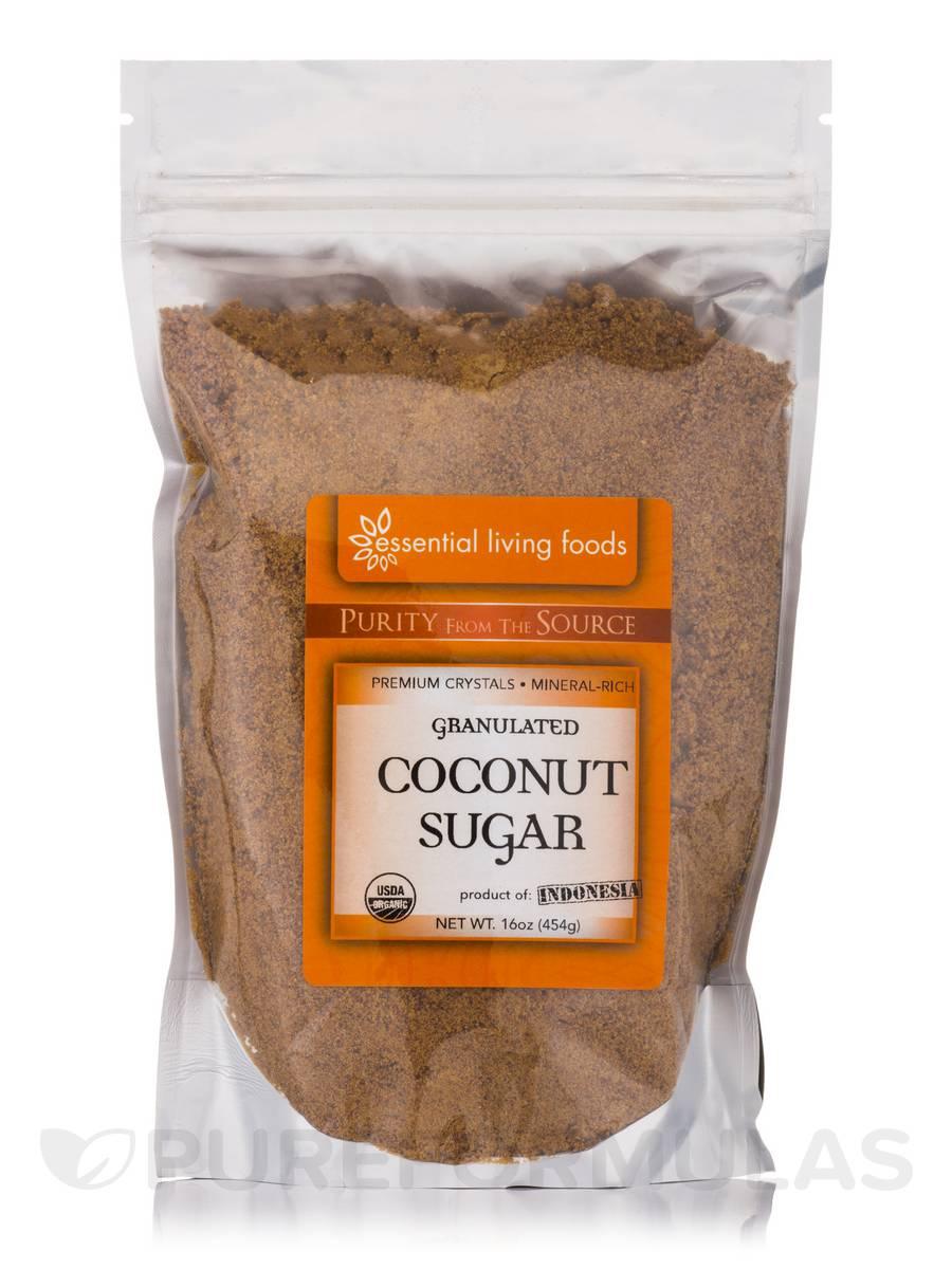 Coconut Sugar Granulated Crystals - 16 oz (454 Grams)