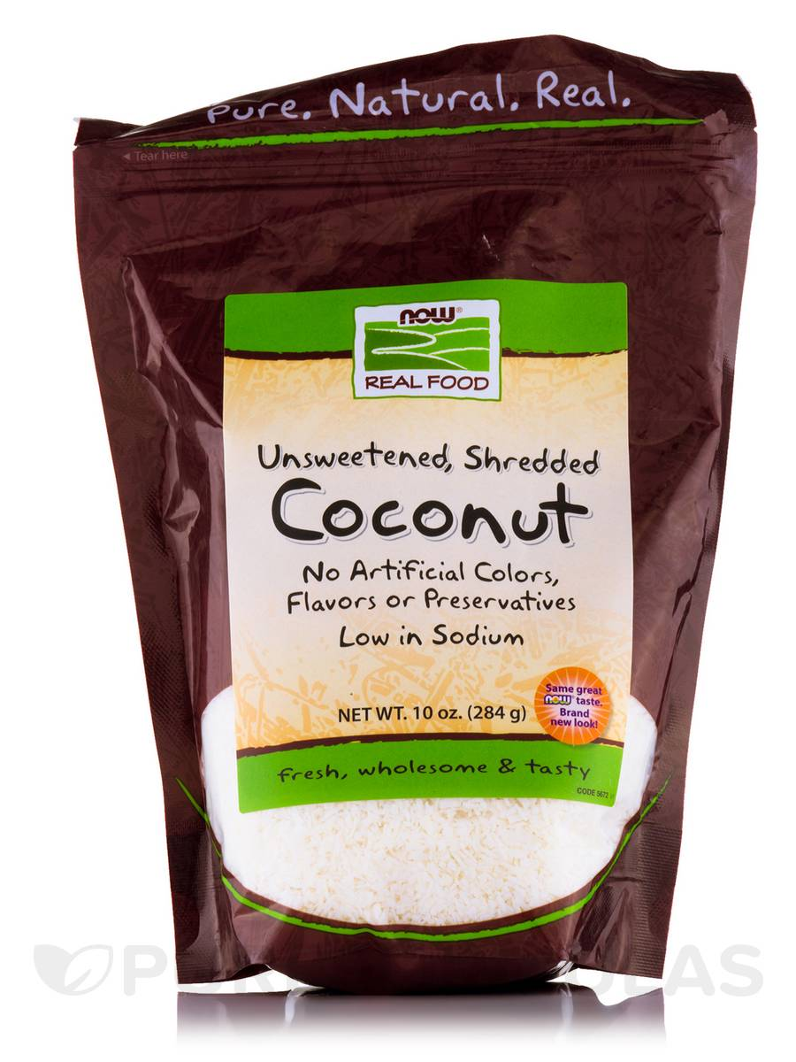 NOW® Real Food - Coconut (Unsweetened, Shredded) - 10 oz (284 Grams)