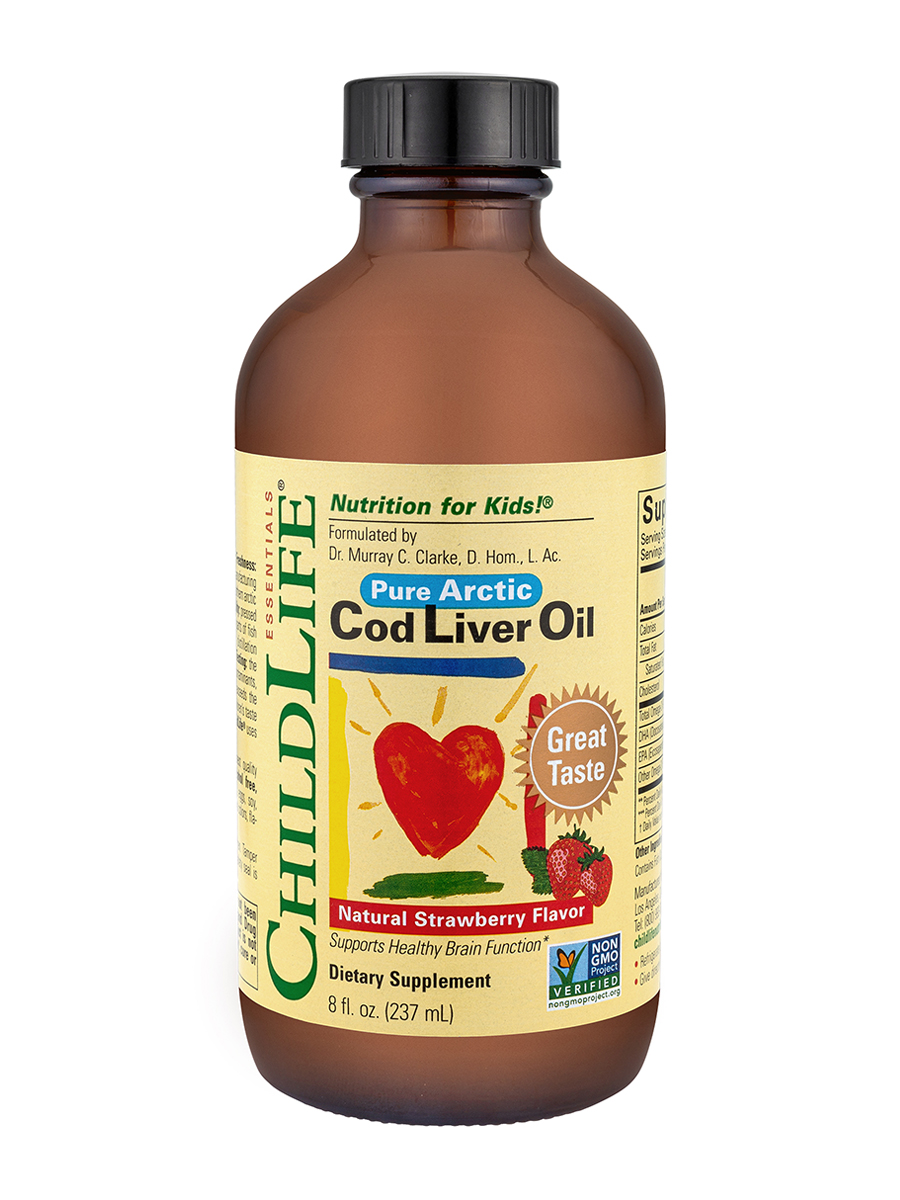 Pure Arctic Cod Liver Oil, Natural Strawberry Flavor - 8 fl. oz (237 ml)