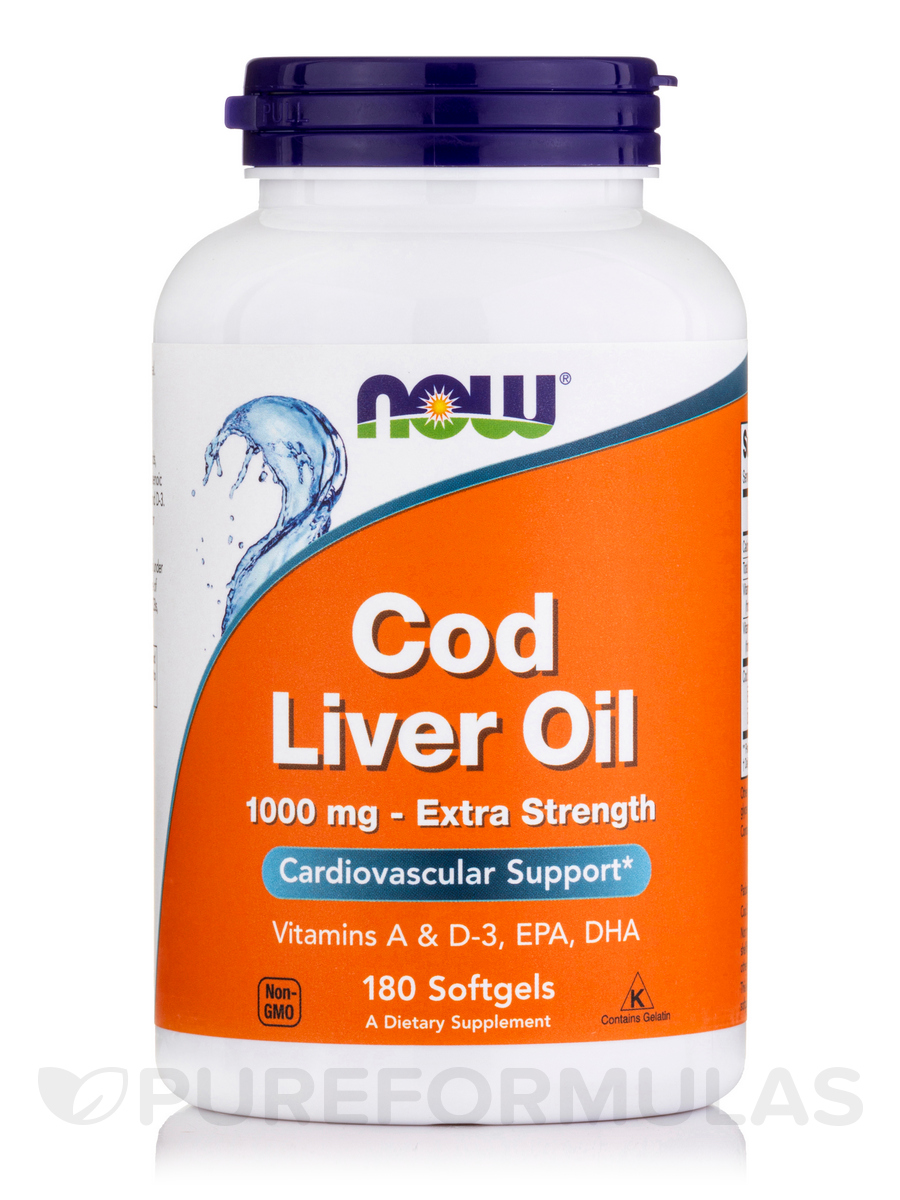 Cod Liver Oil Extra Strength 1,000 mg - 180 Softgels