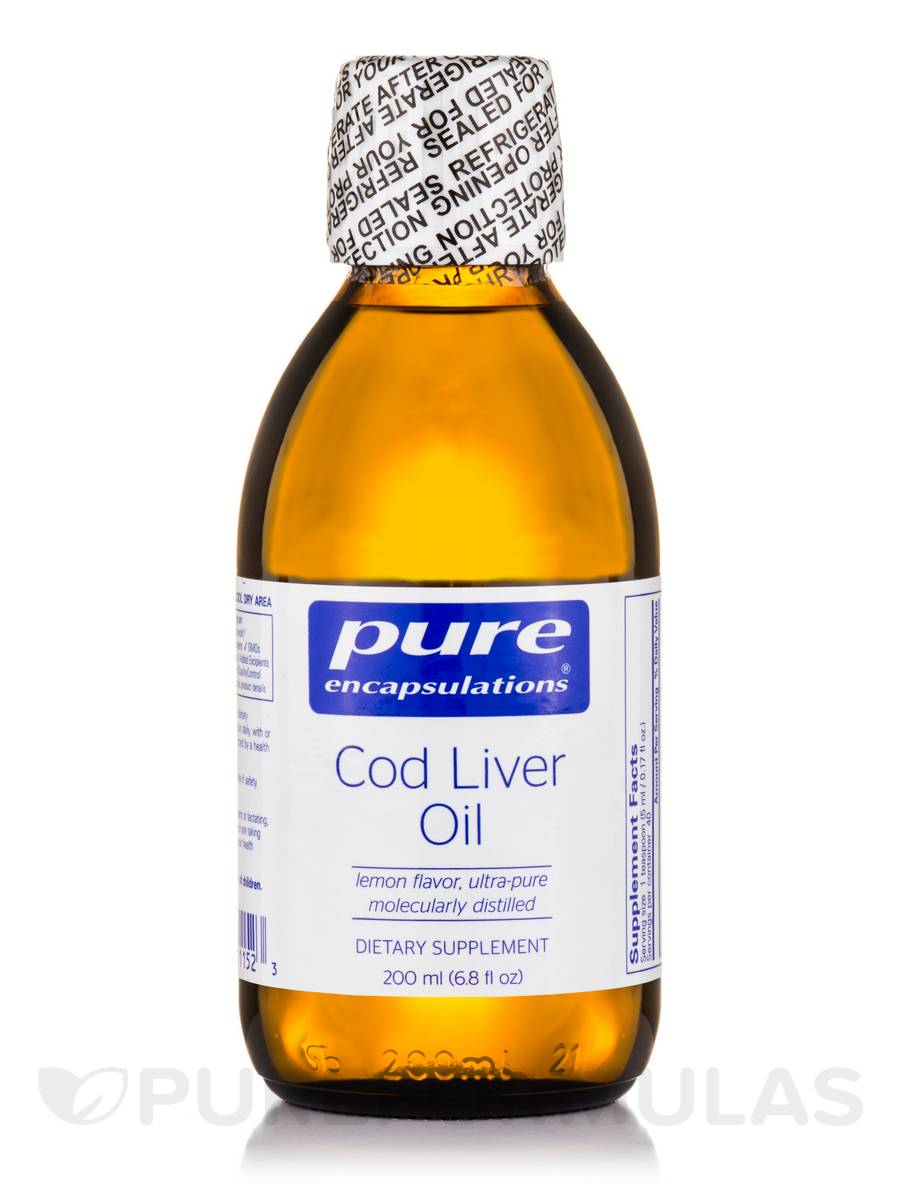 Cod Liver Oil Lemon Flavor - 7 oz (200 ml)