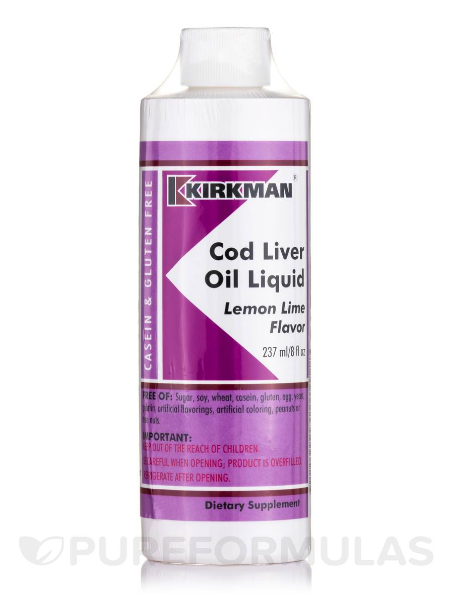 Cod Liver Oil Liquid Lemon Lime Flavor - 8 fl. oz (237 ml)