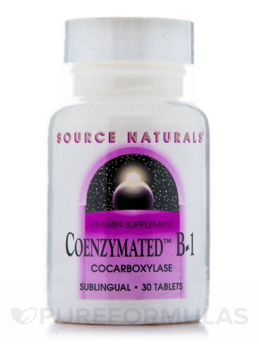 Coenzymated B-1 Sublingual 25 mg - 30 Tablets