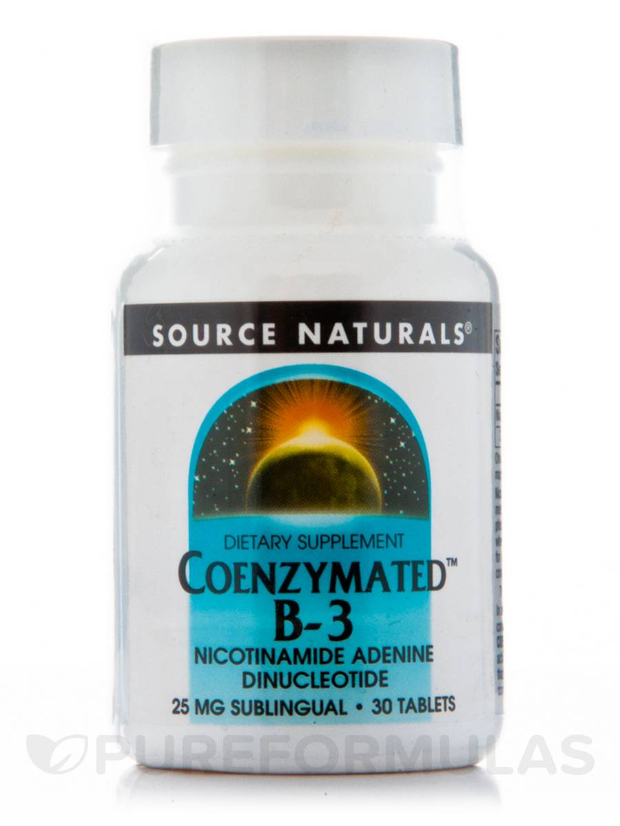 Coenzymated B-3 Sublingual 25 mg - 30 Tablets