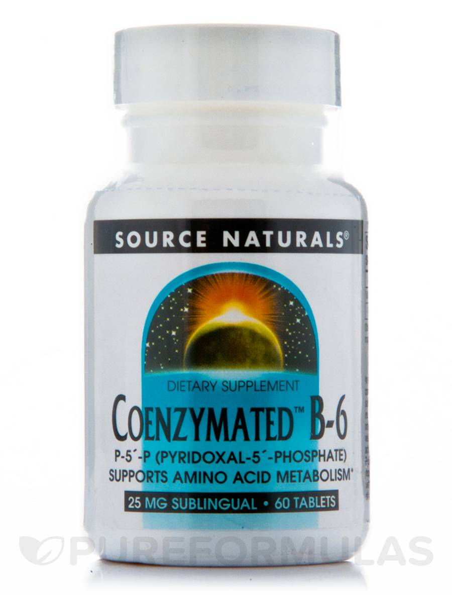 Coenzymated B-6 Sublingual 25 mg - 60 Tablets