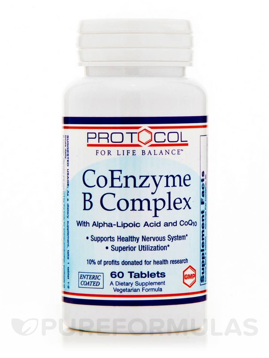 CoEnzyme B Complex - 60 Tablets