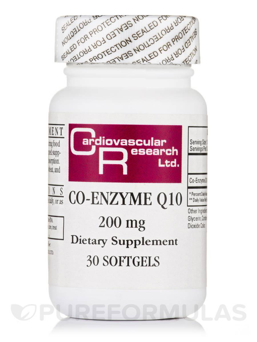 Co-Enzyme Q10 200 mg - 30 Softgels