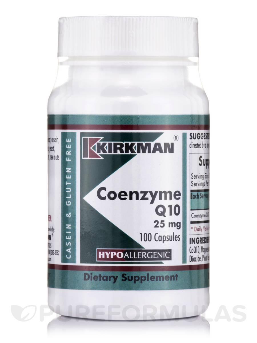 Coenzyme Q10 25 mg -Hypoallergenic - 100 Capsules