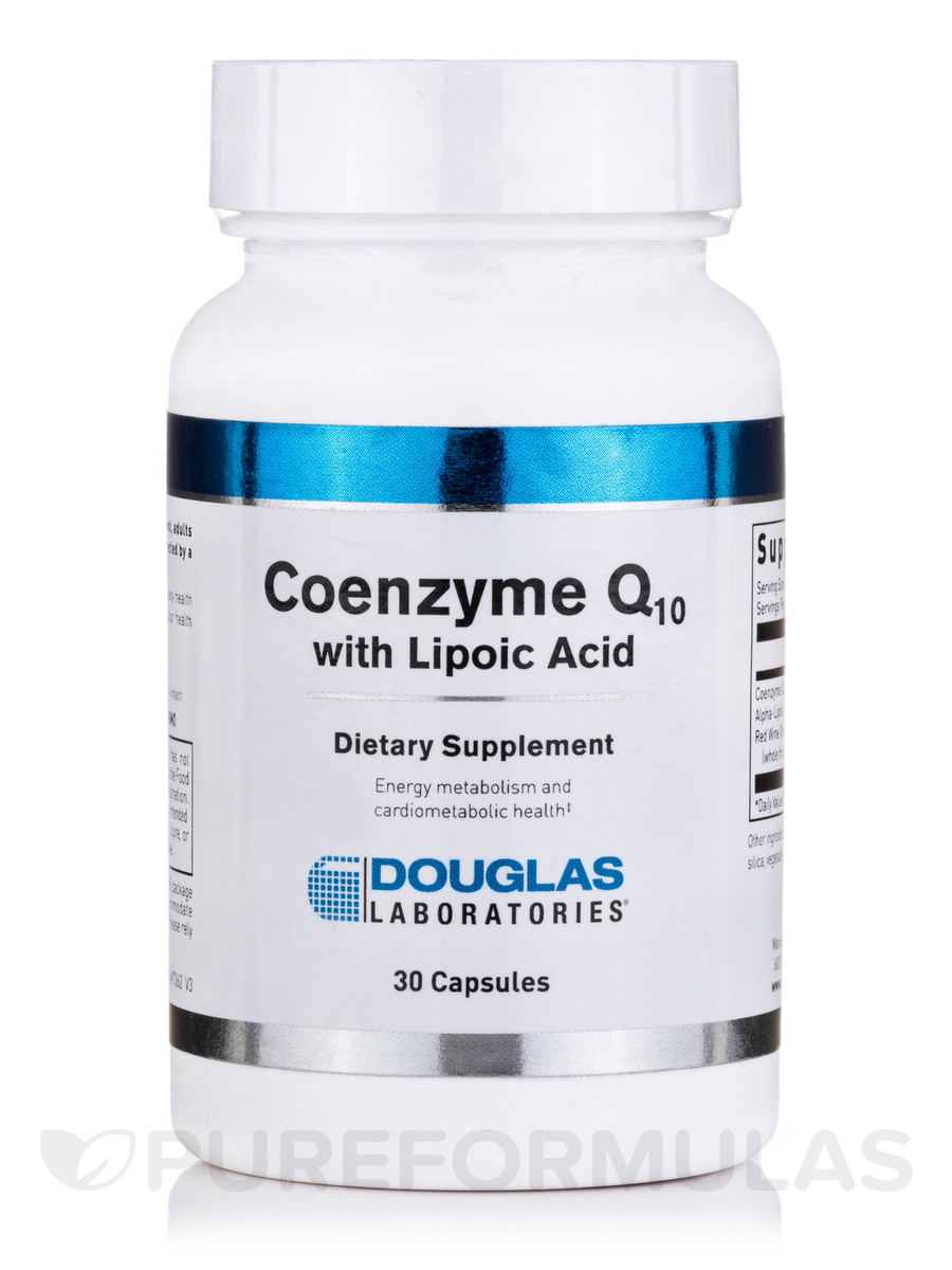 Coenzyme Q-10 with Lipoic Acid - 30 Capsules