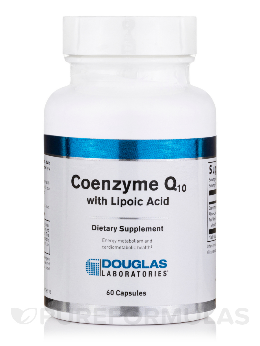 Coenzyme Q-10 60 mg with Lipoic Acid - 60 Capsules