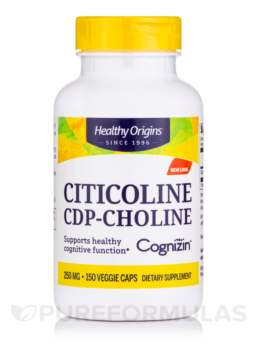 Cognizin (Citicoline) 250 mg - 150 Veggie Capsules