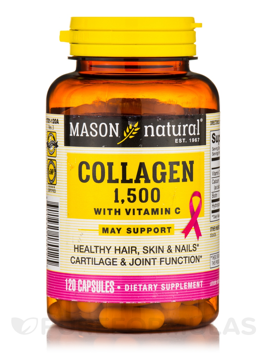 Collagen 1500 mg with Vitamin C - 120 Capsules