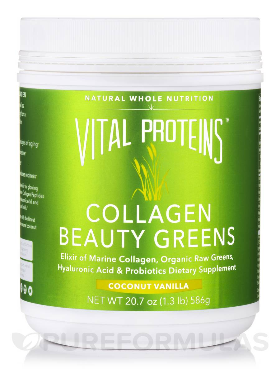 Collagen Beauty Greens, Coconut Vanilla - 20.7 oz (586 Grams)