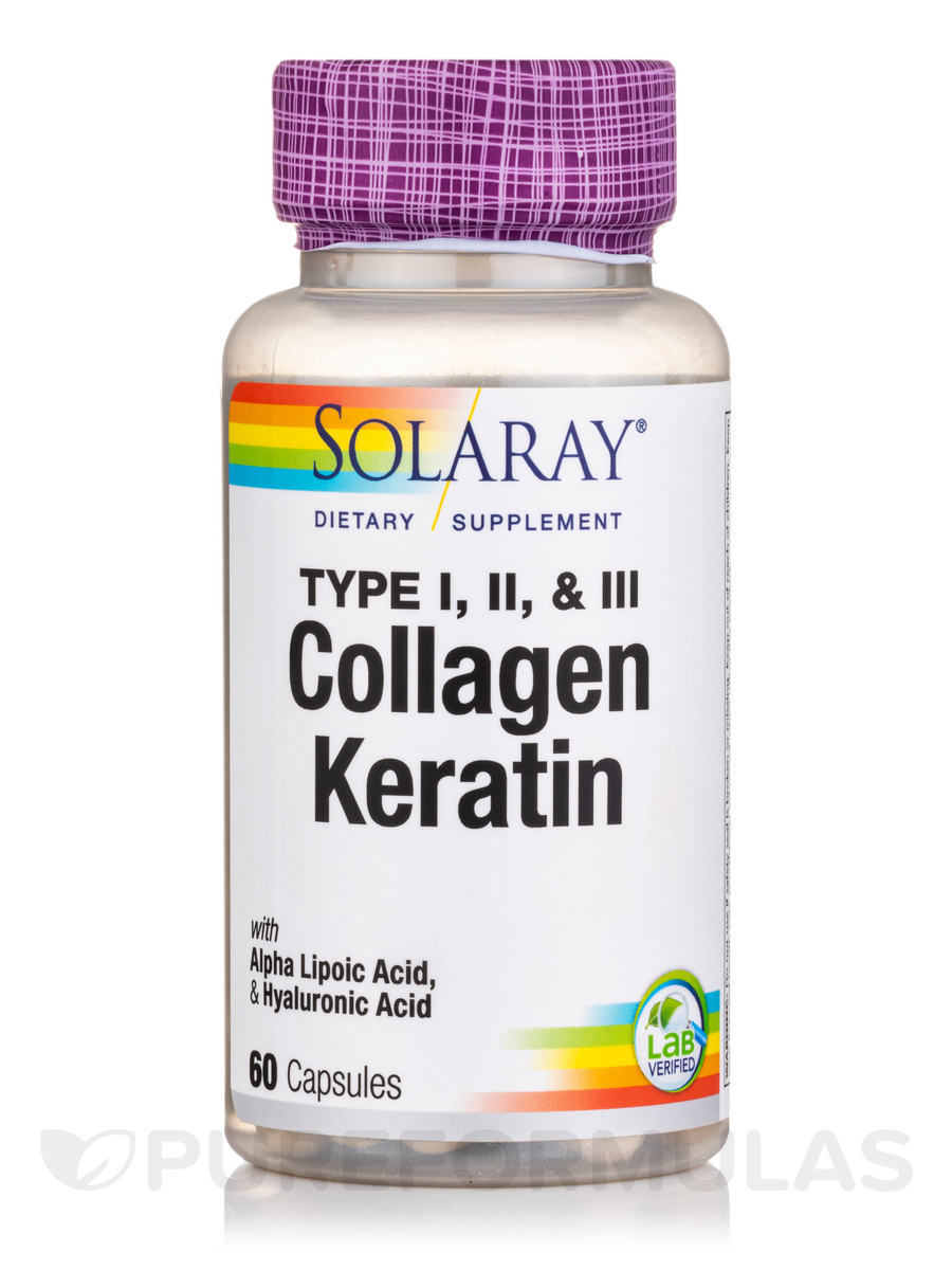 Collagen Keratin Type I, II & III - 60 Capsules