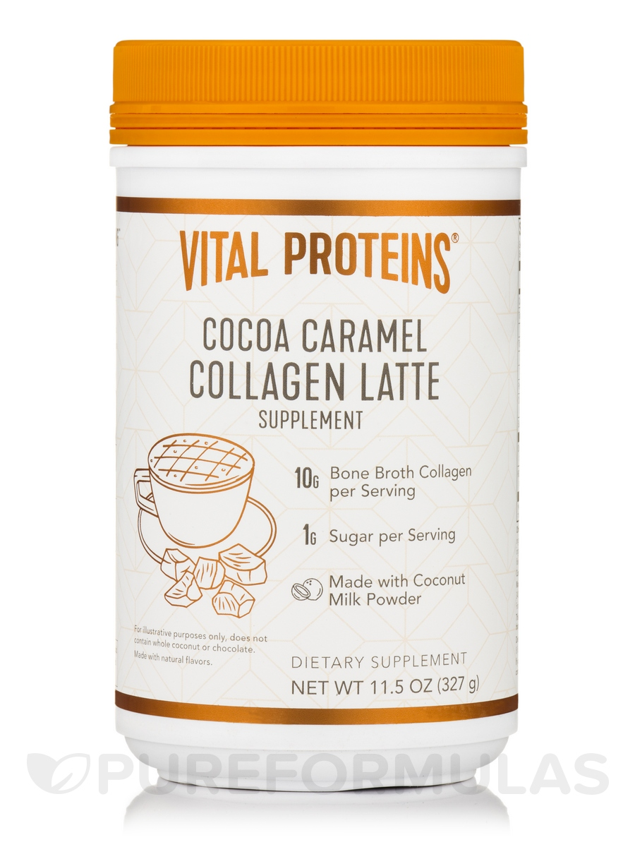 Collagen Latte, Cocoa Caramel - 11.5 oz (327 Grams)
