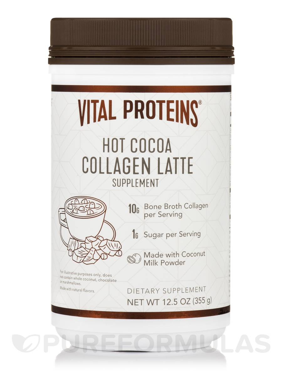 Collagen Latte, Hot Cocoa - 12.5 oz (355 Grams)