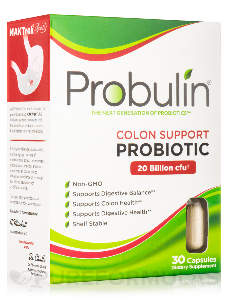 Colon Support Probiotic 20 Billion CFU - 30 Capsules