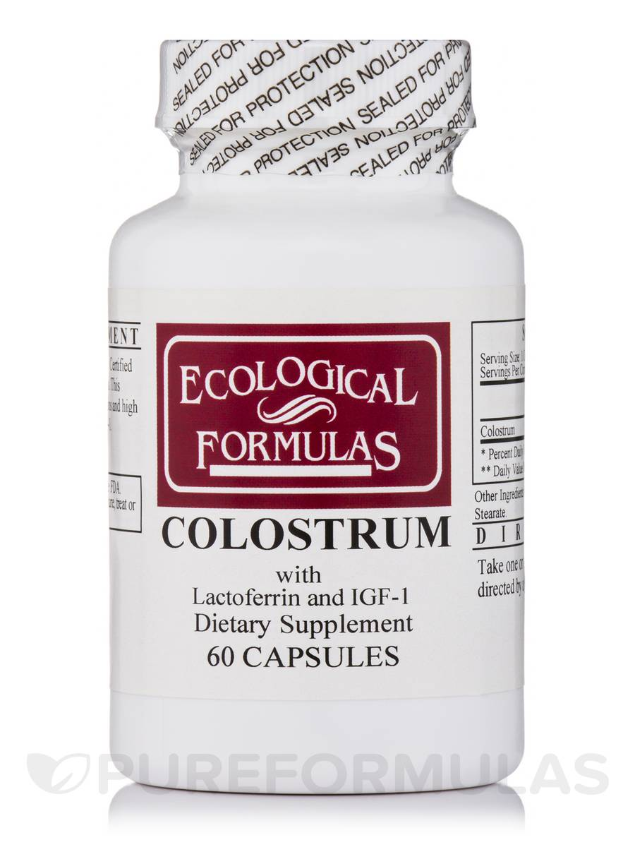 Colostrum (26% Immunoglobulins 300 mg) - 60 Capsules
