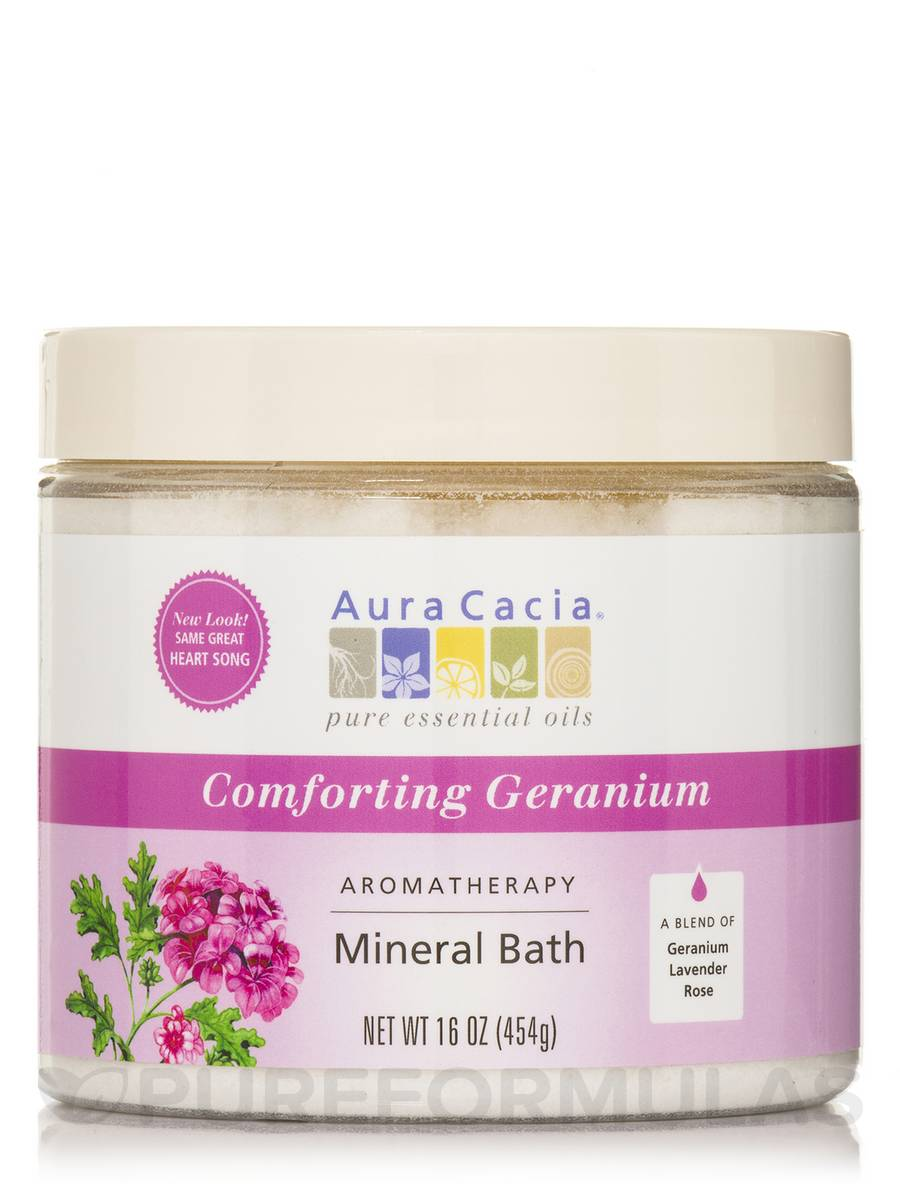 Comforting Geranium (Heart Song) Aromatherapy Mineral Bath - 16 oz (454 Grams)