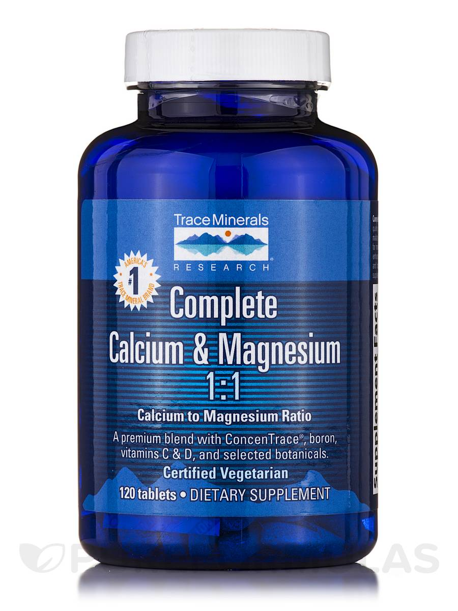 Complete Calcium & Magnesium 1:1 - (500 mg/500 mg) - 120 Tablets