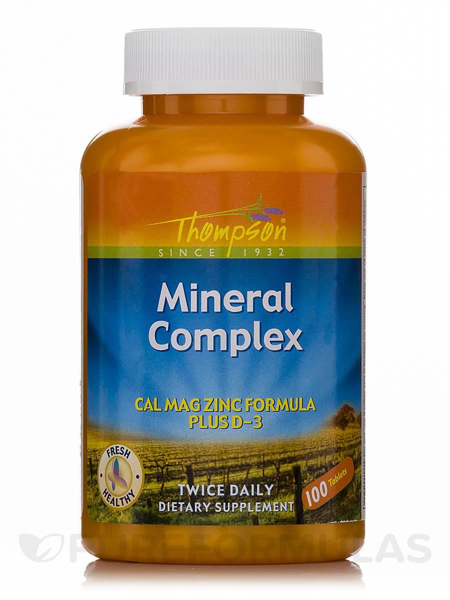 Mineral Complex (Cal Mag Zinc Formula Plus D-3) - 100 Tablets