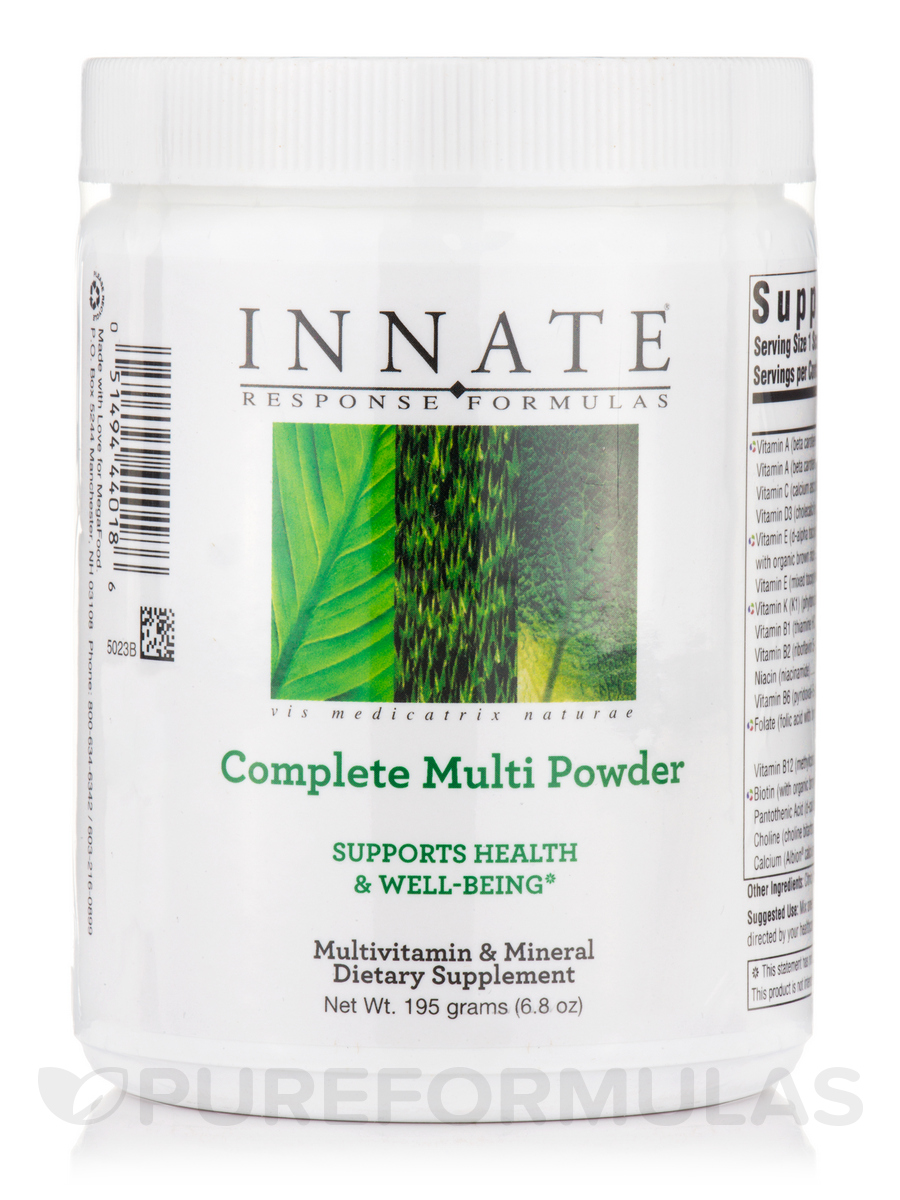 Complete Multi Powder with CoQ10 and Prebiotics - 6.8 oz (195 Grams)