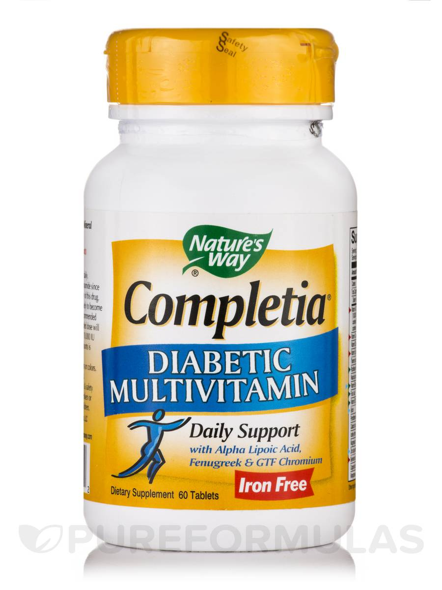 Completia Diabetic (Iron-Free) - 60 Tablets