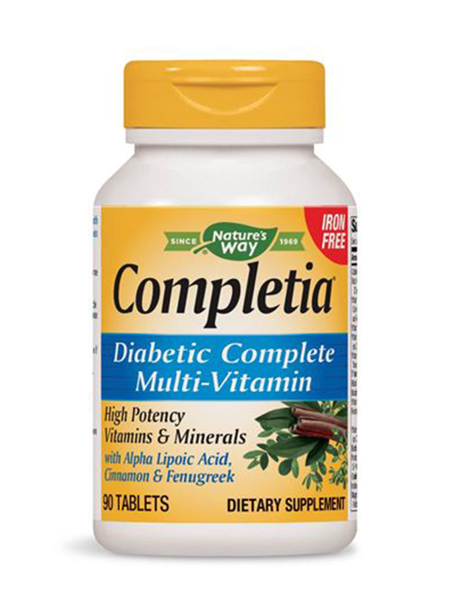 Completia Diabetic Multivitamin Iron Free - 90 Tablets