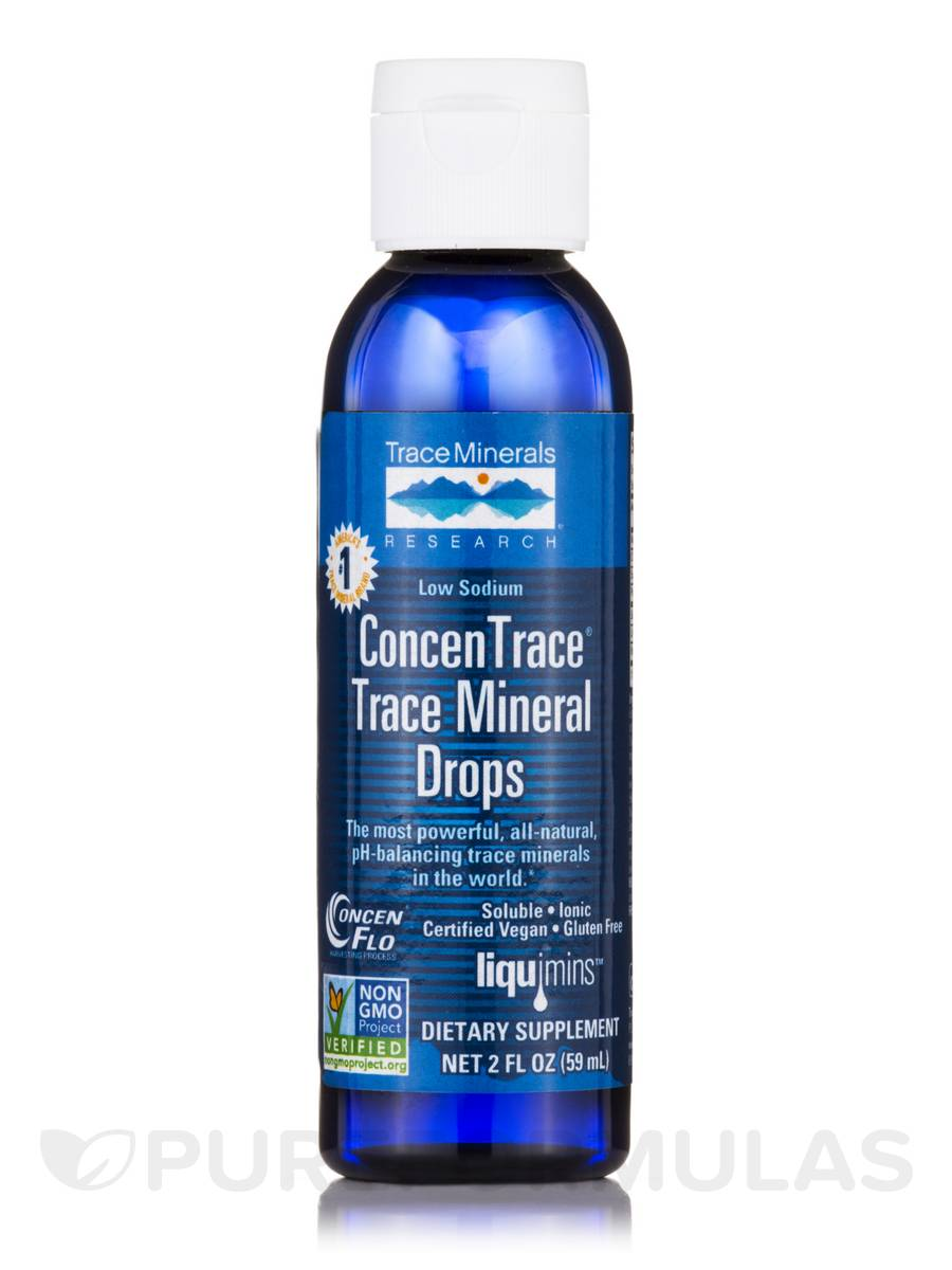 Low Sodium ConcenTrace® Trace Mineral Drops - 2 fl. oz (59 ml)