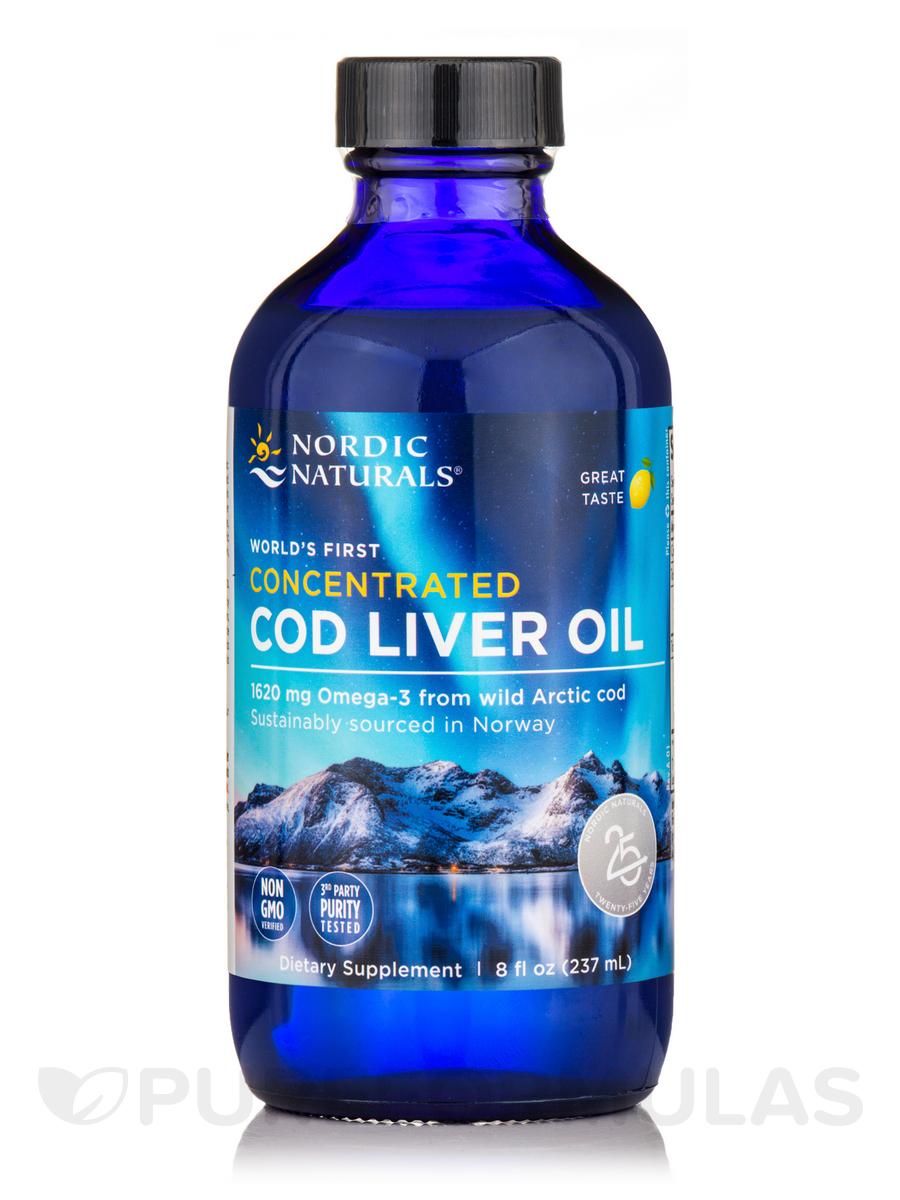 Concentrated Cod Liver Oil, Natural Lemon Flavor - 8 fl. oz (237 ml)