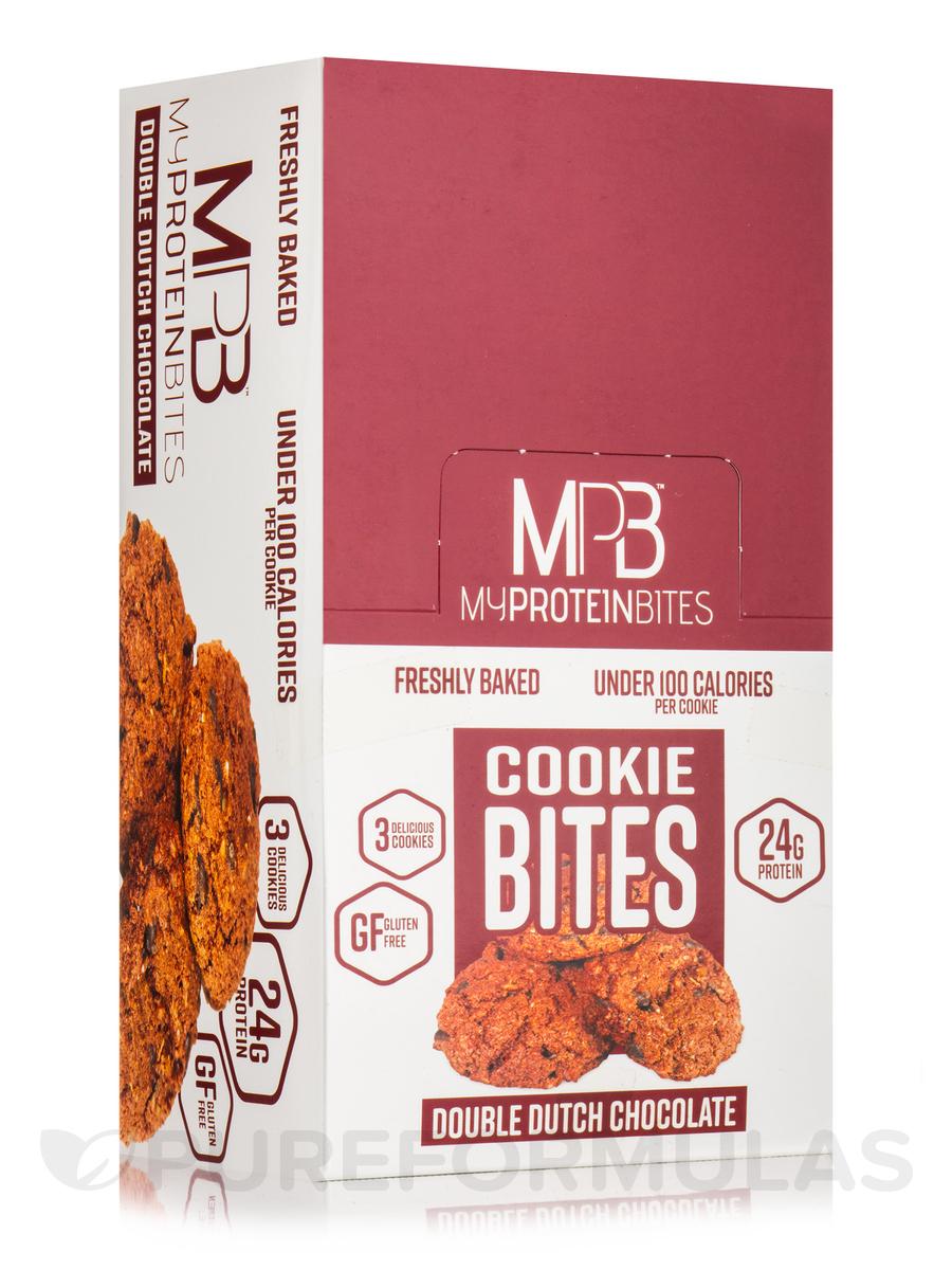 Cookie Bites Double Dutch Chocolate - 8 - 2.5 oz (72 Grams) 3 Pack Cookies