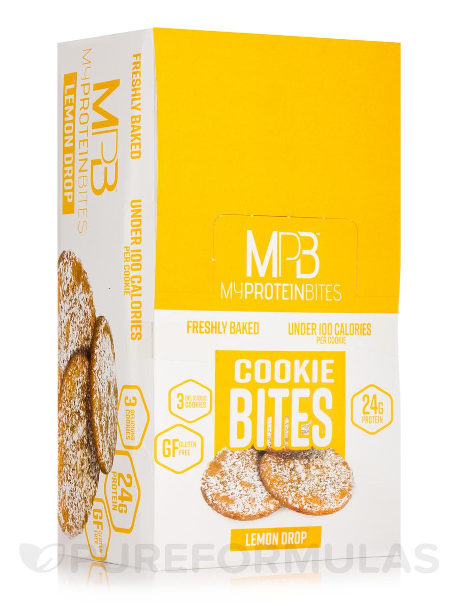 Cookie Bites Lemon Drop - Box of 8 Packs, 3 Cookies per Package