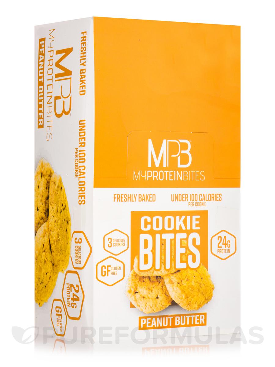Cookie Bites Peanut Butter - Box of 8 Packs, 3 Cookies per Package