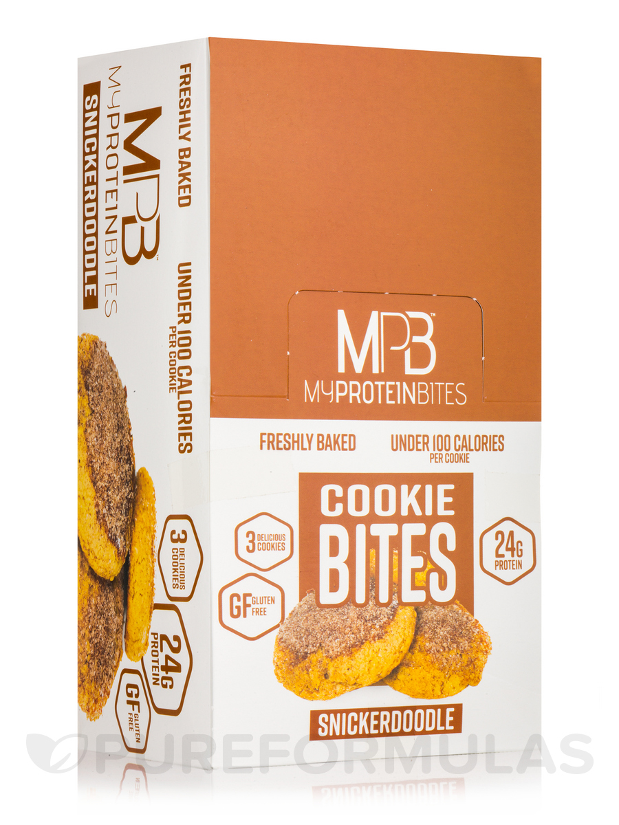 Cookie Bites Snickerdoodle - Box of 8 Packs, 3 Cookies per Package
