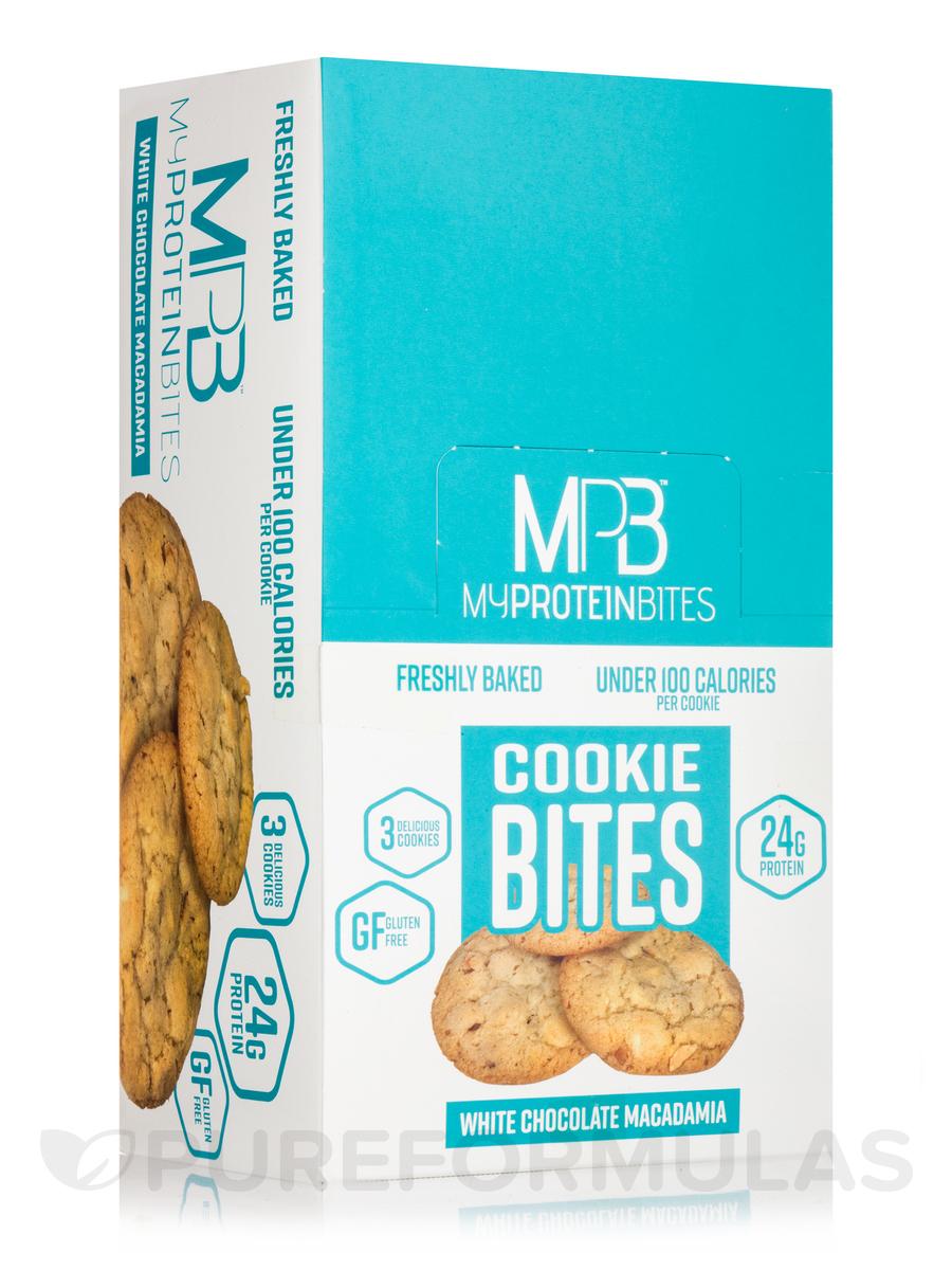 Cookie Bites White Chocolate Macadamia - Box of 8 Packs, 3 Cookies per Package