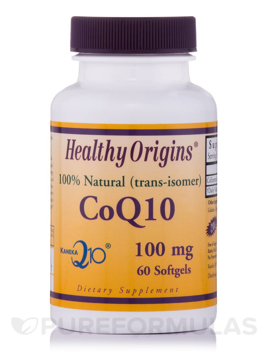 CoQ10 100 mg (Kaneka Q10™) - 60 Softgels