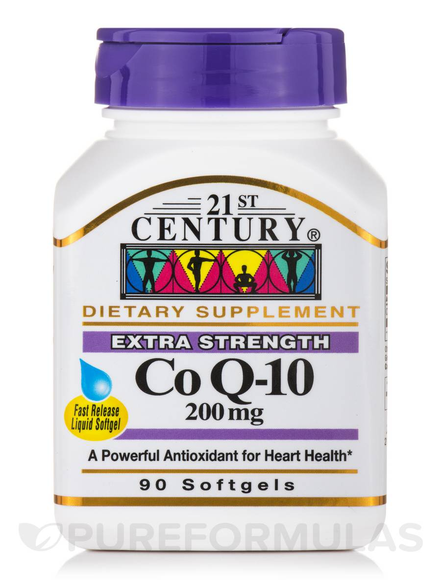CoQ10 200 mg (Extra Strength) - 90 Softgels