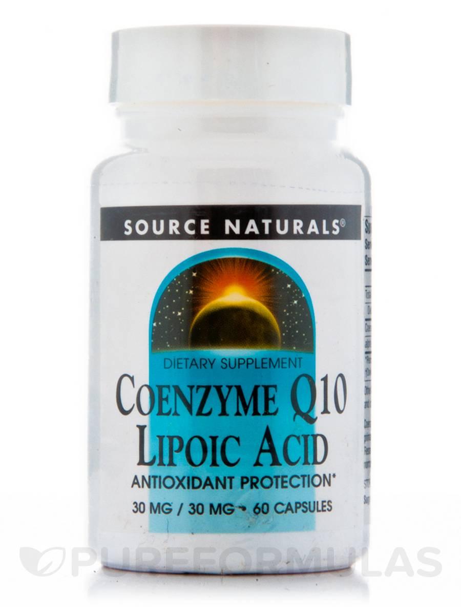 Co-Q10 30 mg Lipoic Acid 30 mg - 60 Capsules
