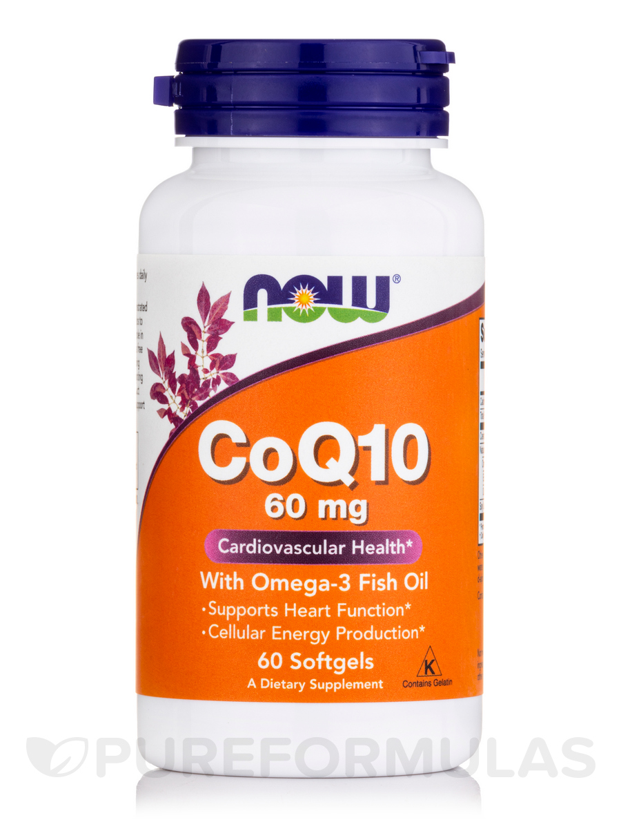Coq10 60 mg with omega 3 fish oils 60 softgels for Coq10 and fish oil