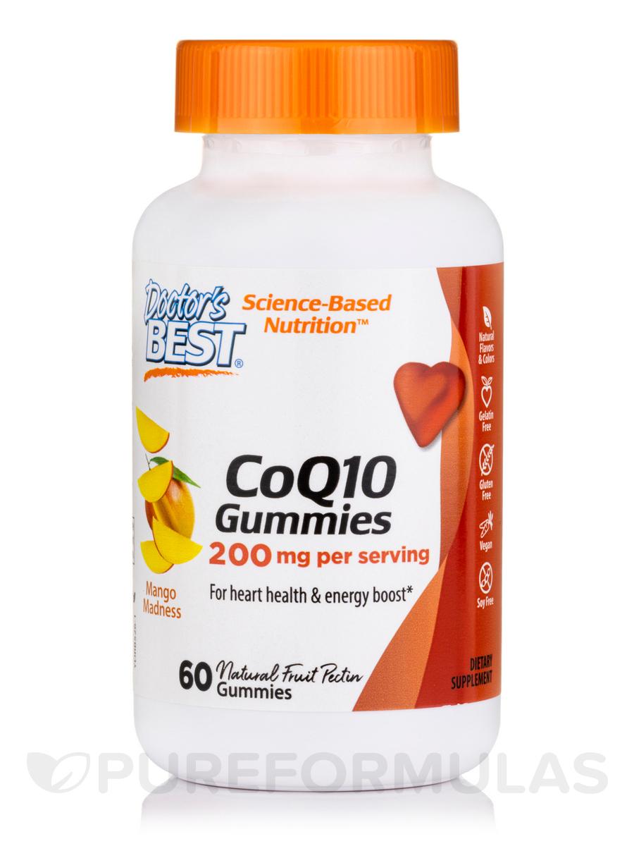 CoQ10 Gummies 200 mg, Natural Fruit Pectin - 60 Gummies