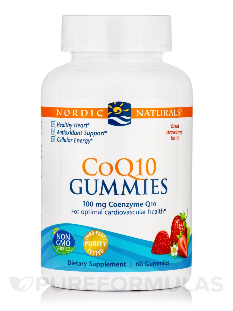CoQ10 Gummies, Strawberry Flavor - 60 Gummies