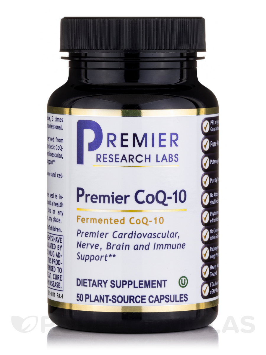 Premier CoQ-10 - 50 Vegetable Capsules