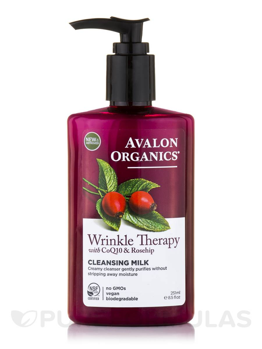 Wrinkle Therapy with CoQ10 & Rosehip - Cleansing Milk - 8.5 fl. oz (251 ml)