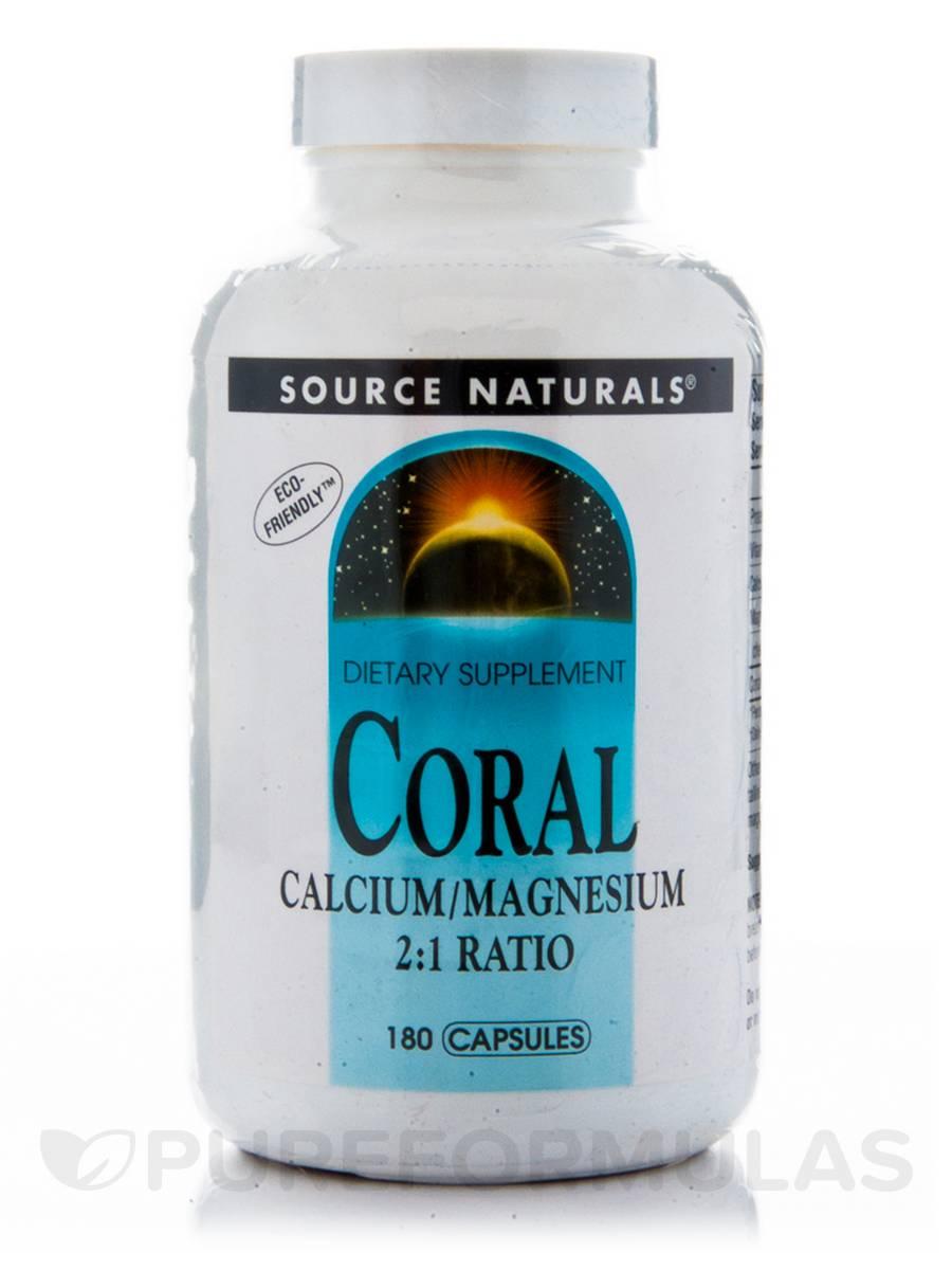 Coral Calcium with Magnesium - 180 Capsules